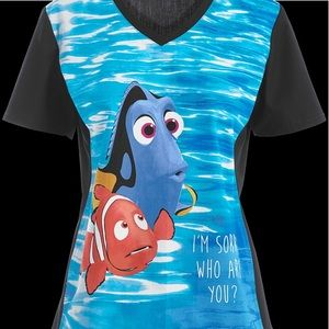 Tops - Finding dory scrub top